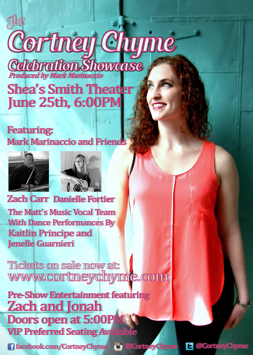 Do NOT miss the Cortney Chyme Celebration Showcase on June 25, 2017